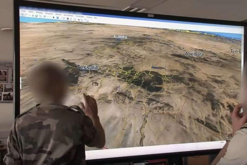 L'importance du renseignement géospatial (capture vidéo ministère des Armées)