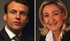 Emmanuel Macron et Marine Le Pen pour le second tour de la présidentielle en 2017 (Wikipedia)