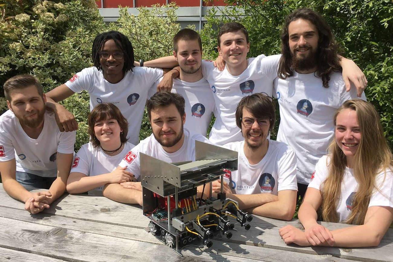 Polytech Nancy à la Coupe de France de Robotique