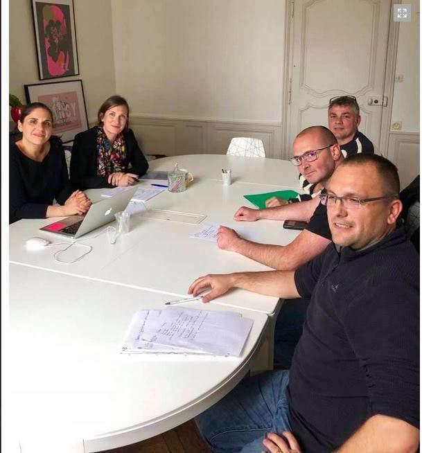 Réunion des syndicalistes FO-Pénitentiaire avec la députée LREM Carole Grandjean (Facebook)