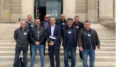 Les syndicalistes de FO Pénitentiaire reçus par Dominique Potier à l'Assemblée Nationale (DR)
