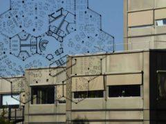 L'ancien siège de la SNVB devenue CIC à Laxou (54) (affiche de la conférence)