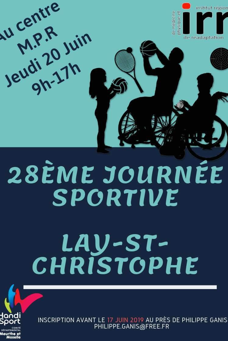 Affiche de la 28ème journée sportive de Lay-saint-Christophe
