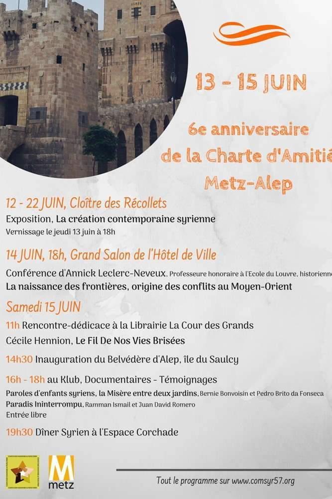 6ème anniversaire de la Charte d'amitié Metz-Alep