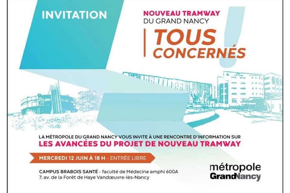 Tram Nancy : Réunion d'information le12 juin à Brabois