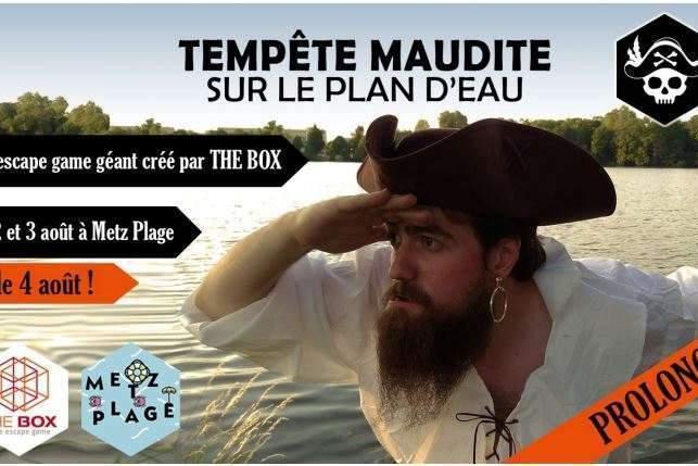 Metz : «Tempête maudite sur le plan, d'eau»