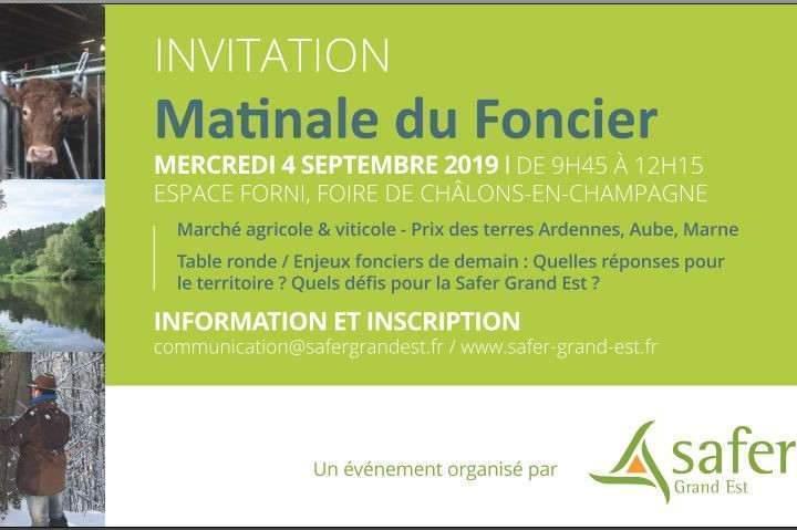 Les enjeux du foncier à la foire de Châlons-en-Champagne