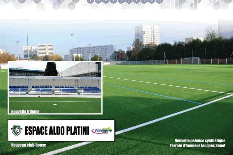 Vandoeuvre : inauguration du terrain synthétique de foot
