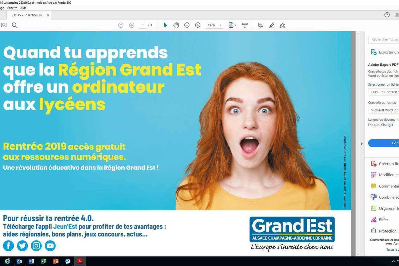 Les élus de la Région Grand Est remettent 115 000 ordinateurs dans 293 lycées 4.0.