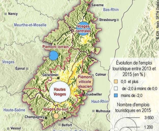 L'emploi touristique dans le massif des Vosges