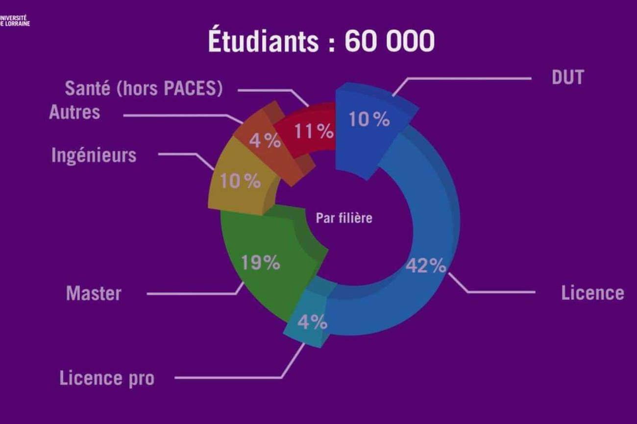 Les chiffres clés de l'Université de Lorraine