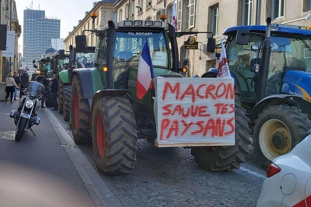 Nancy paralysée par 200 tracteurs
