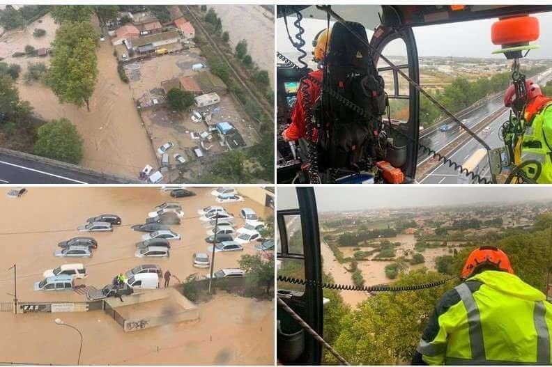 Orages : gros dégâts dans plusieurs départements du Sud