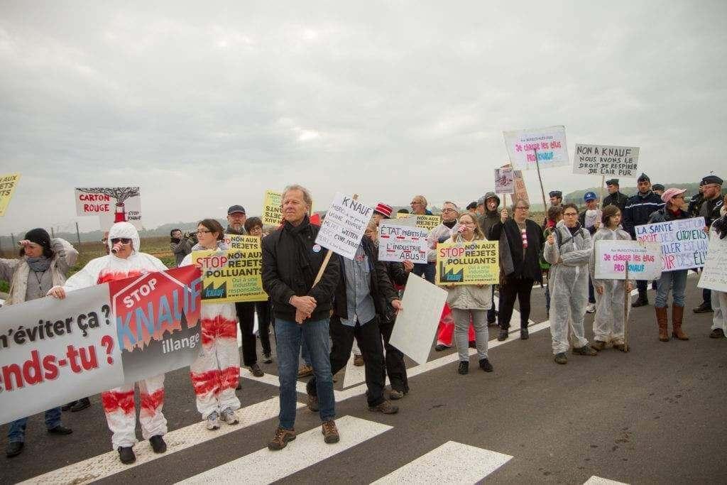 Moselle : les opposants s'invitent à l'inauguration de Knauf