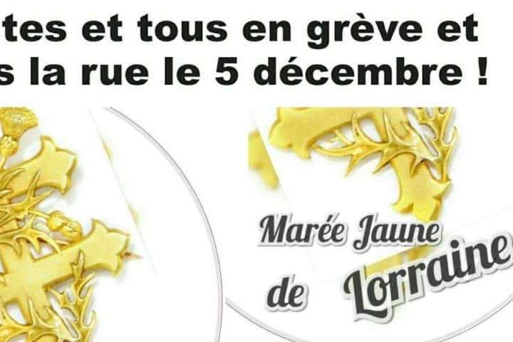 5 décembre : les Gilets jaunes dans les rues de Nancy avec les syndicats