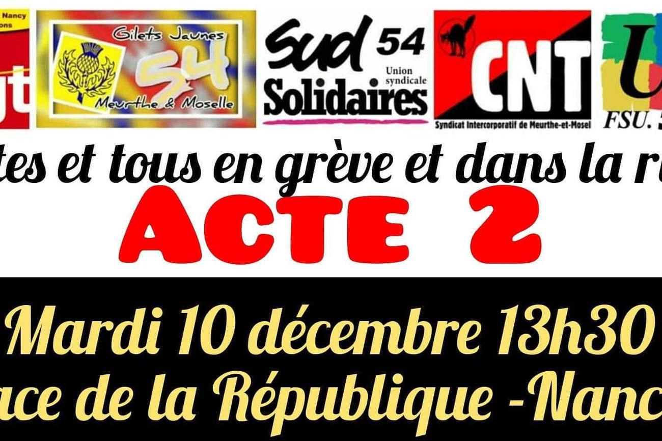 Nouvelle manif à Nancy le 10 décembre