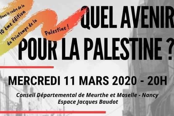 Nancy : quel avenir pour la Palestine?