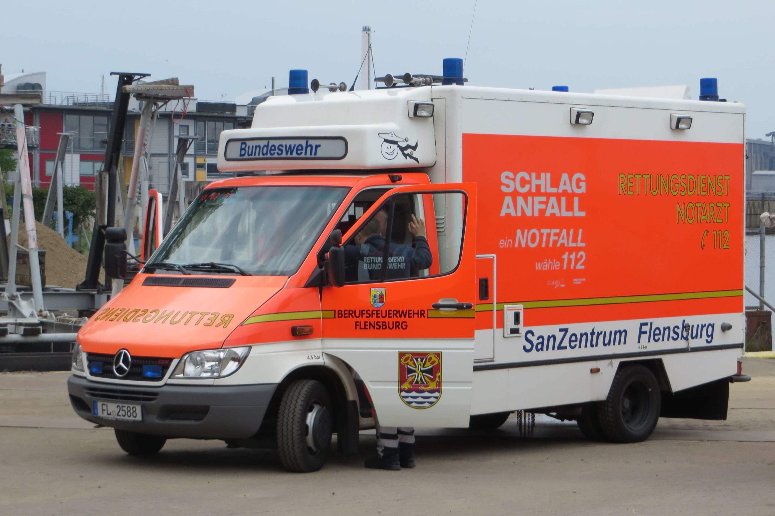 Ambulance allemande (wikimedia Commons)