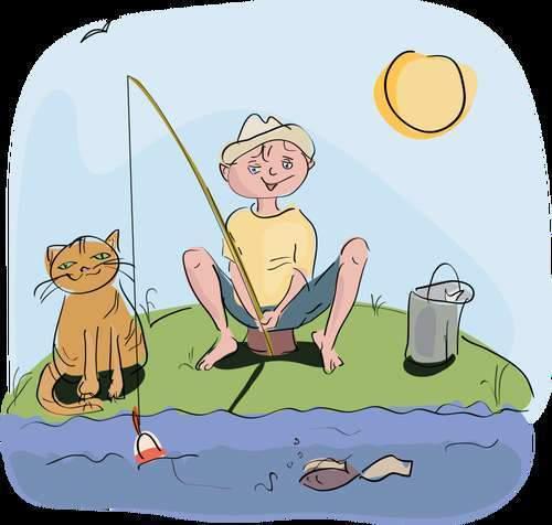 Erwan à la pêche (photo domaine public)