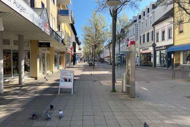 Les rues désertes à Kehl (photo CEC)