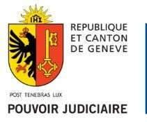 pouvoir judiciaire Canton de Genève