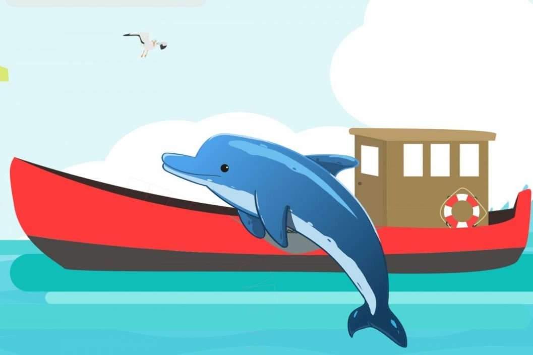Un dauphin ami d'Erwan (pxhere)