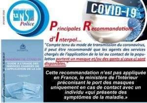 Coronavirus : les policiers veulent des masques