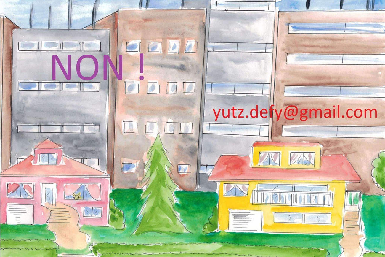 Yutz : contre la bétonisation délirante (dessin du collectif DEFY)