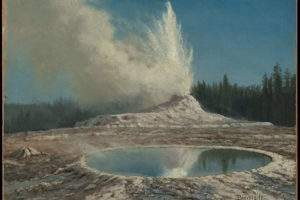 Geyser Yellowstone Park (Albert Bierstadt Public domain)