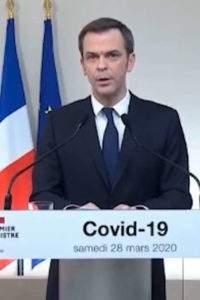 Olivier Véran, ministre de la Santé (capture Euronews)