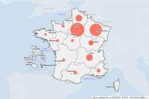 carte Géodes-santé publique France