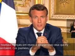 Emmanuel Macron, le13 avril 2020