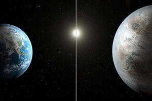 Kepler 452 et la Terre (wikipedia)