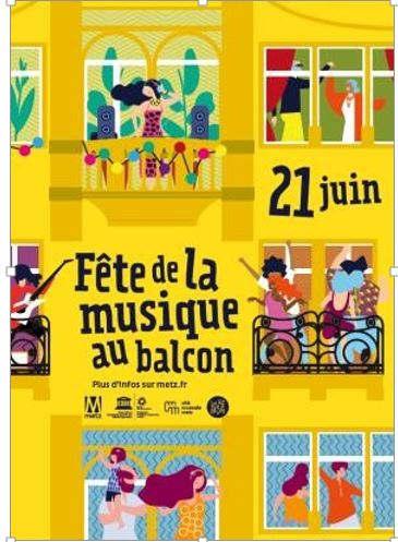 Fête de la musique au balcon (Metz)