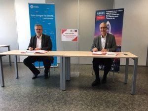 Hervé Bauduin, président de l'UIMM Lorraine et Pierre Mutzenhardt, président de l'UL