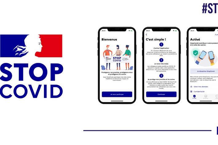 logo et écrans de l'appli (ministère économie)