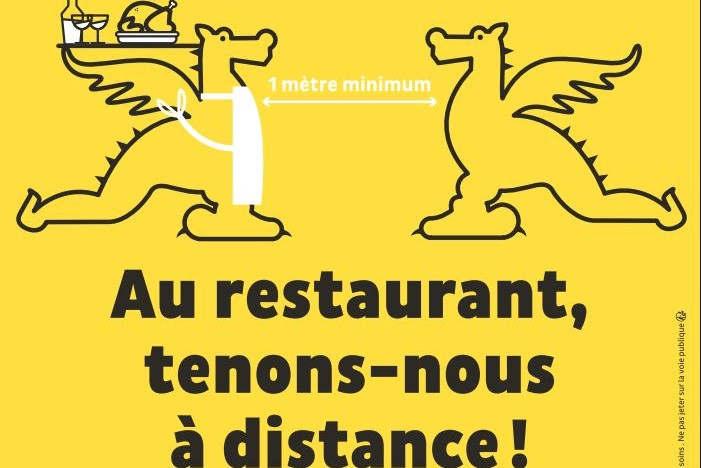 Respect des distances de sécurité (affiche)