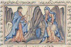 L'Annonciation, Miniature de Jami al-tawarikh de Rashid al-Din, 1314.