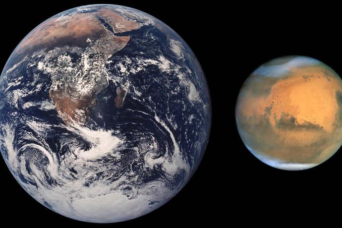 La Terre et Mars