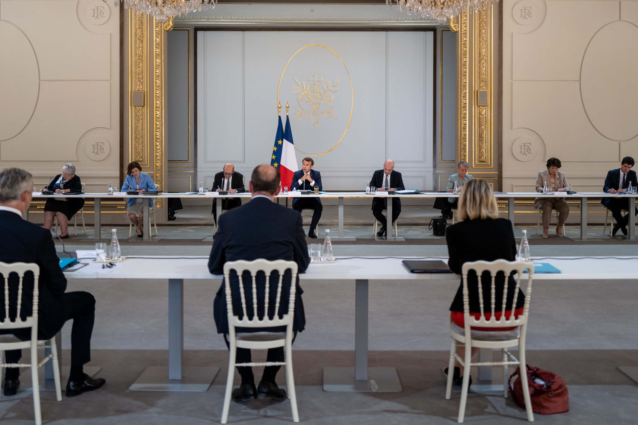 Conseil des ministres à l'Elysée, le 7 juillet 2020