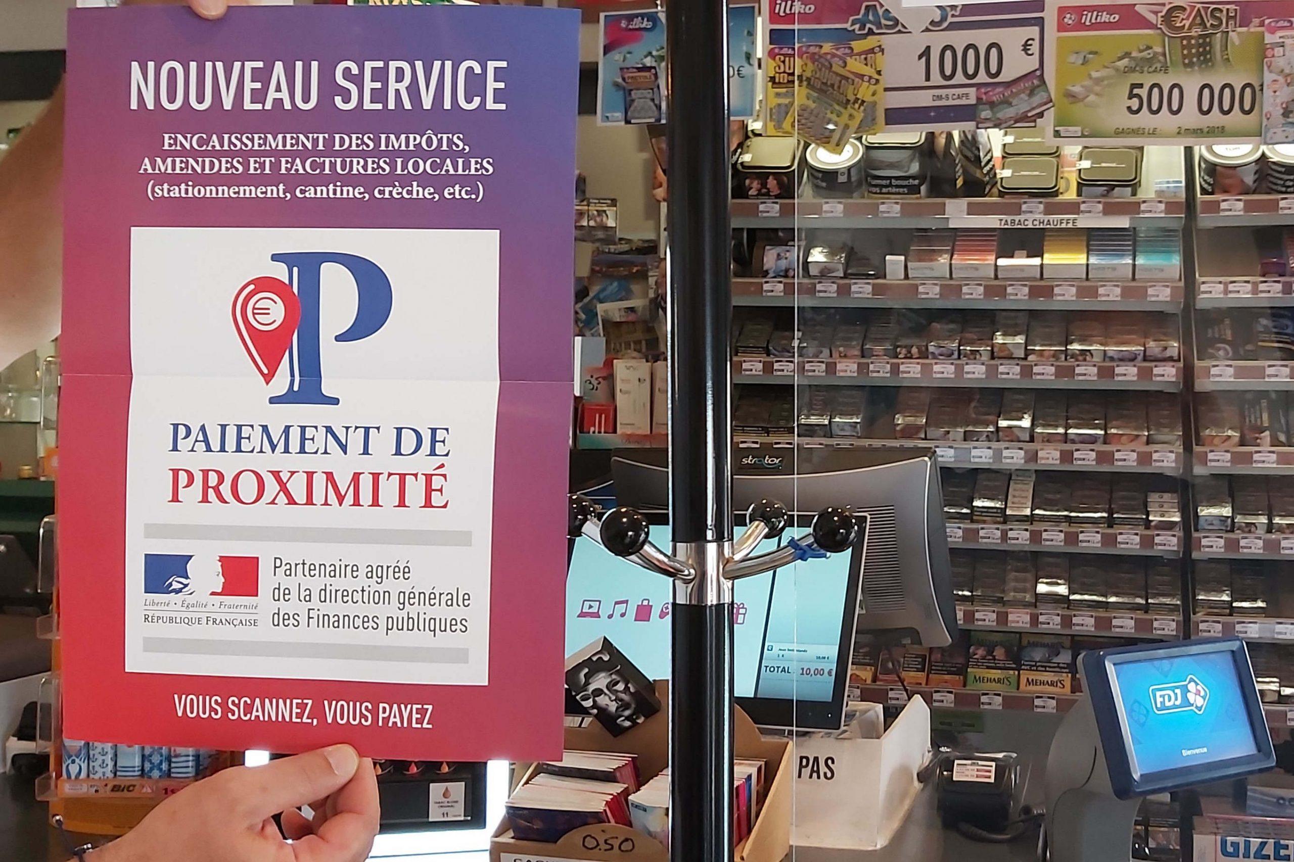 Paiement de proximité dans les bureaux de tabac