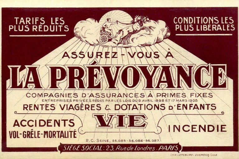 La Prévoyance, compagnie d'assurance avant 1914