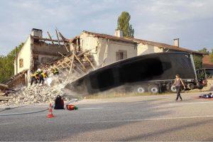 Accident à Lunéville (photo SDIS 54)
