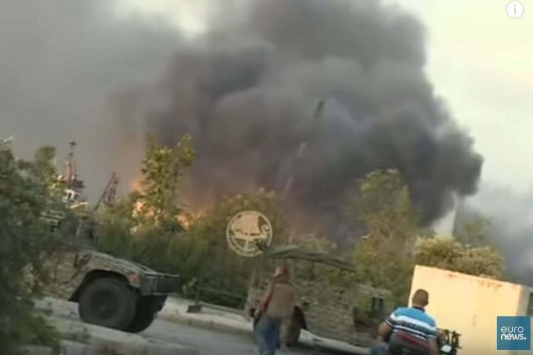 Explosion à Beyrouth (capture euronews)
