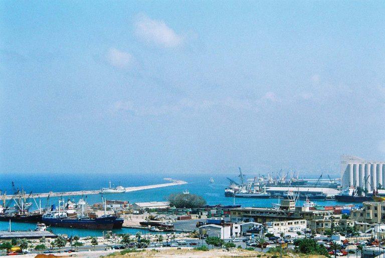 Le port de Beyrouth avant l'explosion du 4 août 2020 (wikipédia)