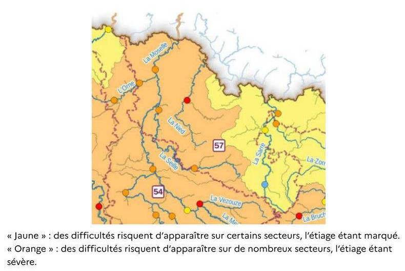 situation des cours d'eau (OFB)
