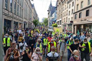Les Gilets jaunes ont défilé dans les rues de Nancy (DR)
