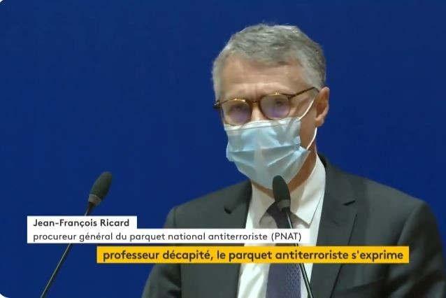 Jean-François Ricard, procureur général PNAT (capture twitter France-Info)