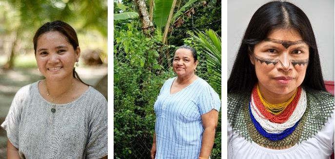 Marinel Ubaldo © Eloisa Lopez/Amnesty International ; Jani Silva © Nubia Acosta ; Salomé Aranda, Mujeres Amazonicas © Santiago Coronado/Amazon Watch