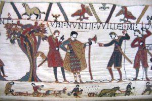 Tapisserie de Bayeux (détail, agriculture) Wikimédia Commons)